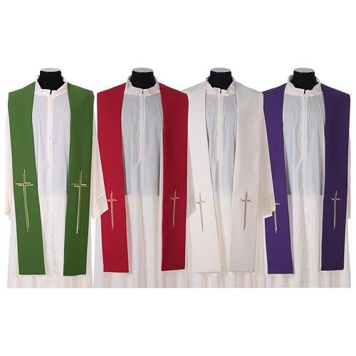 Stola croce stilizzata 100% poliestere 1
