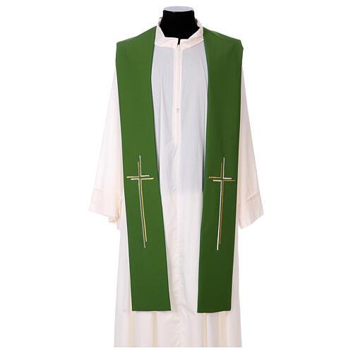 Stola croce stilizzata 100% poliestere 2