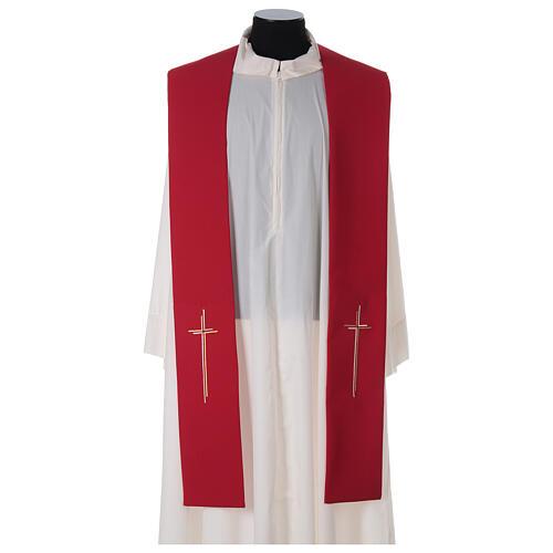 Stola croce stilizzata 100% poliestere 3
