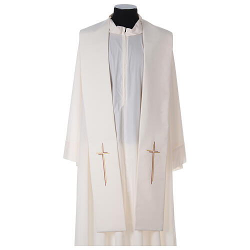 Stola croce stilizzata 100% poliestere 5