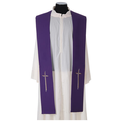 Stola croce stilizzata 100% poliestere 7