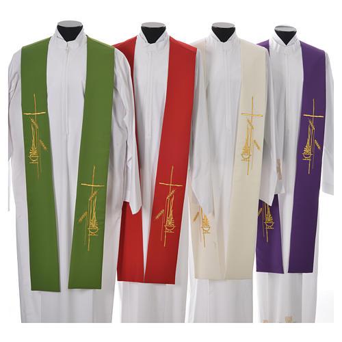 Stola stilisierten Kreuz und Laterne aus Polyester 1