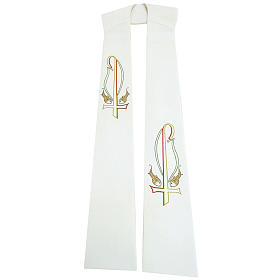 Stole in polyester with Chi-rho and fish embroidery  s1