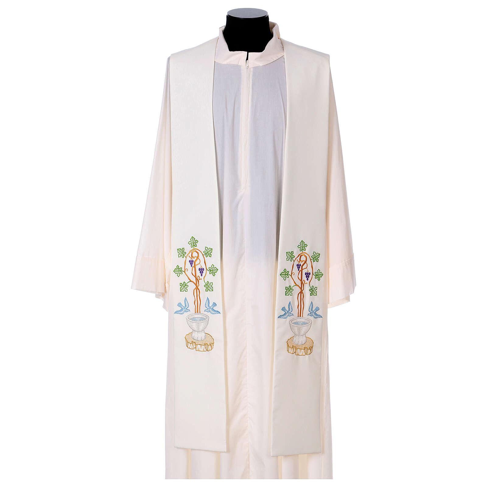 Stolone 100% poliestere fonte battesimale 4