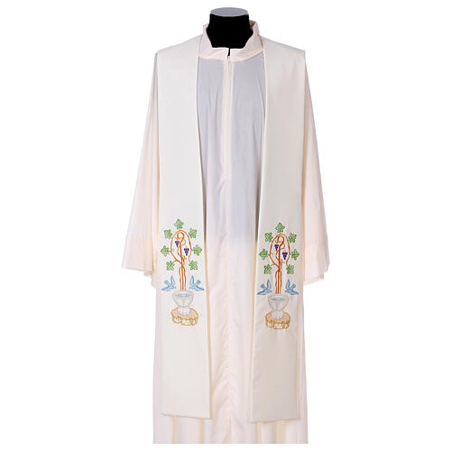 Stolone 100% poliestere fonte battesimale 1
