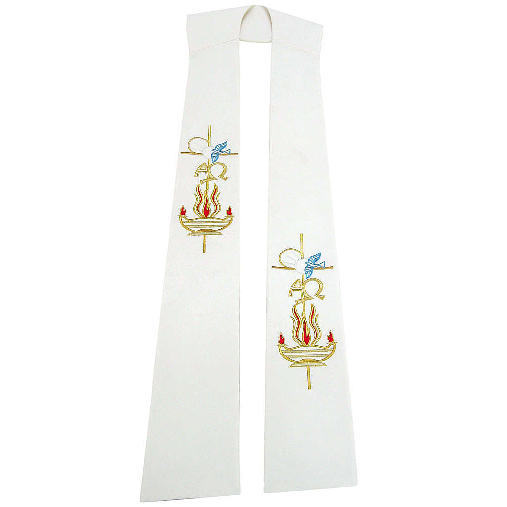 Etole liturgique 100% polyester lampe colombe 4