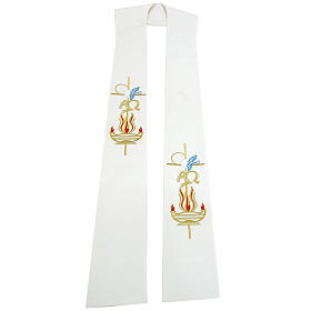 Etole liturgique 100% polyester lampe colombe s1