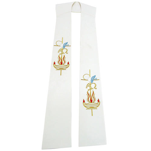 Etole liturgique 100% polyester lampe colombe 1