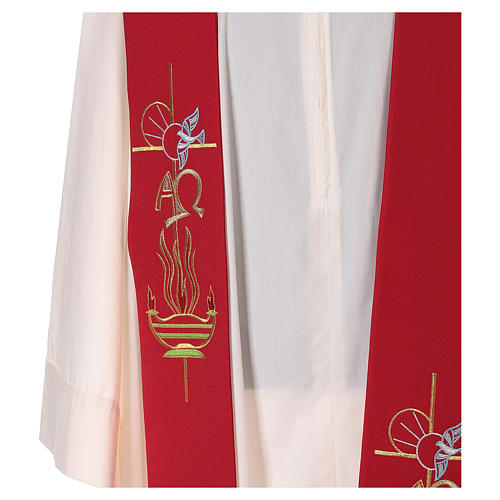 Etole liturgique 100% polyester lampe colombe 2