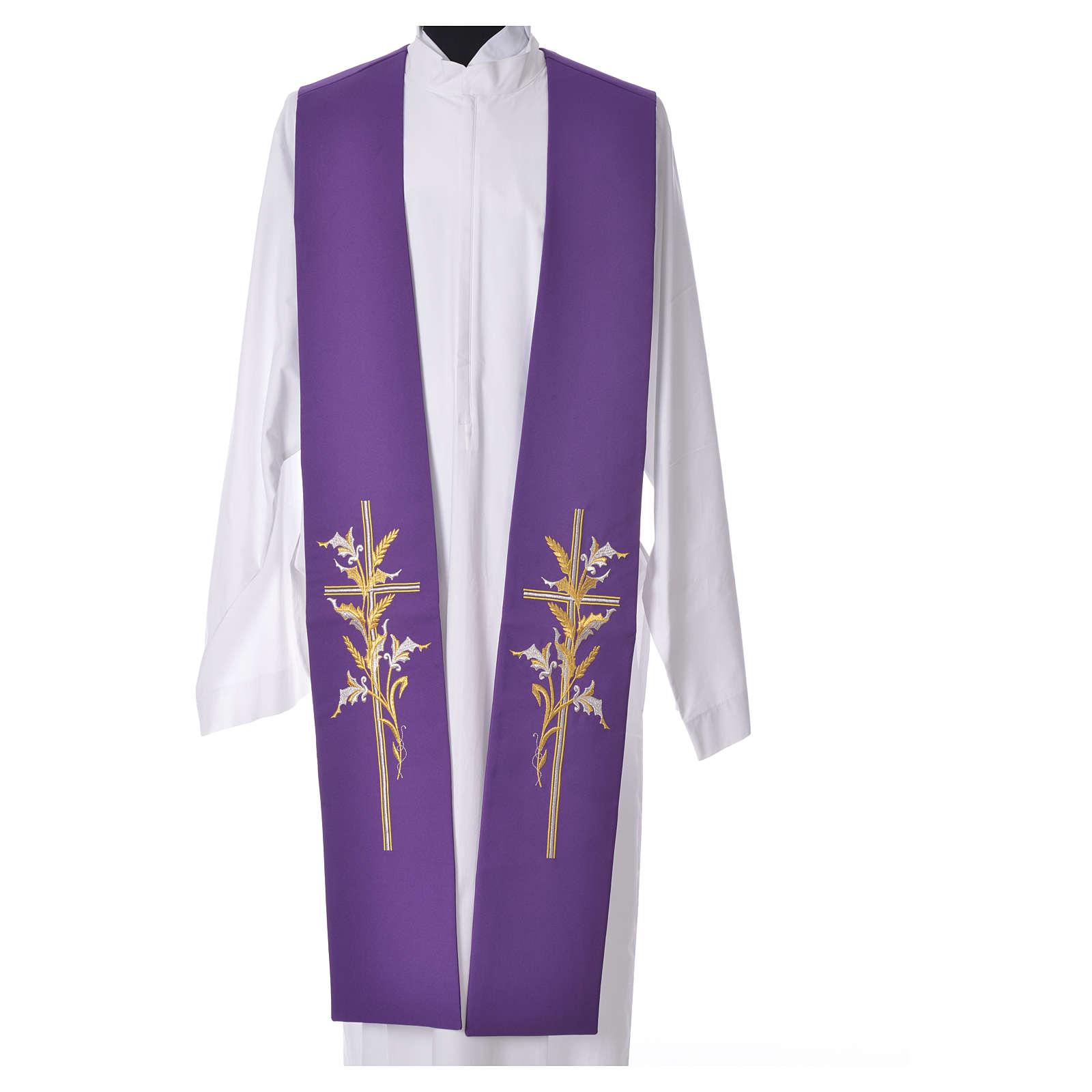 Stolone 100% poliestere croce stilizzata spighe 4