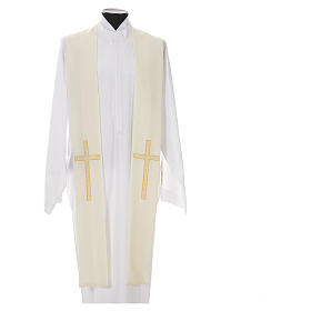 Stole in 100% polyester, crosses s4