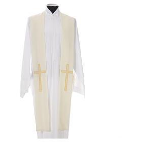 Etole liturgique 100% polyester croix s4