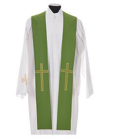 Etole liturgique 100% polyester croix s6