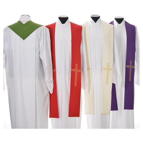 Etole liturgique 100% polyester croix 2