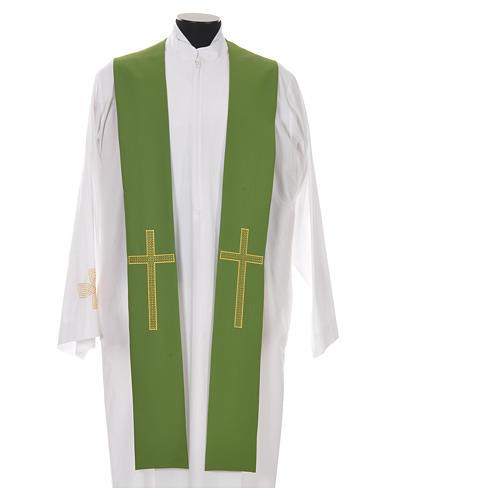 Etole liturgique 100% polyester croix 6
