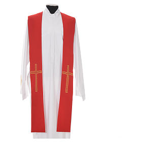 Pastor Stole in 100% polyester, crosses s5
