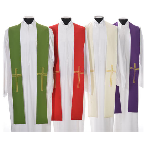 Pastor Stole in 100% polyester, crosses 1