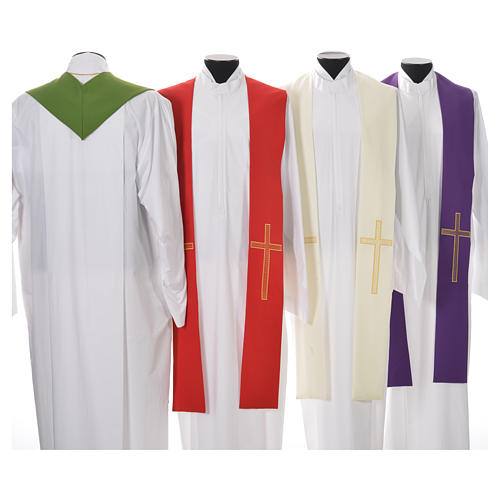 Pastor Stole in 100% polyester, crosses 2
