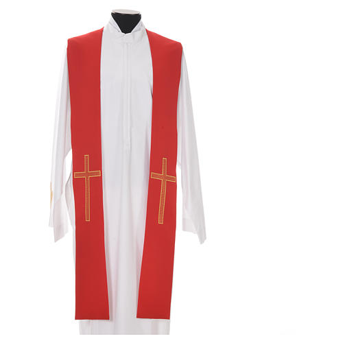 Pastor Stole in 100% polyester, crosses 5