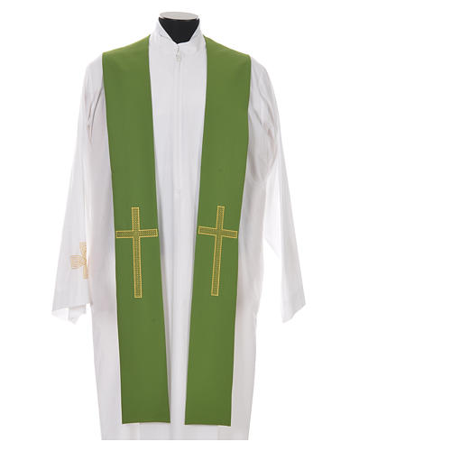 Pastor Stole in 100% polyester, crosses 6