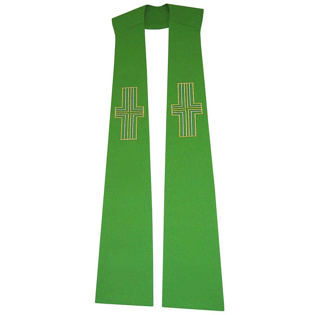 Etole liturgique 100% polyester croix stylisées 4