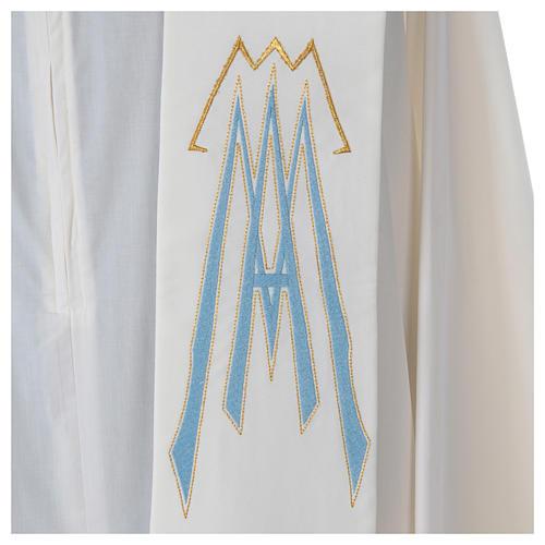 Stolone 100% poliestere ricamo mariano Ave Maria 3