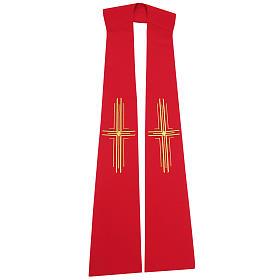 Stuła szeroka z krzyżami stylizowanymi 100% poliester s1