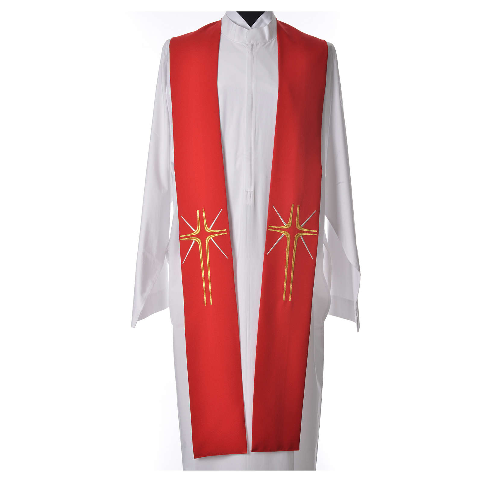 Stole in 100% polyester with cross and rays 4