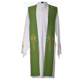 Stole in 100% polyester with cross and rays s5