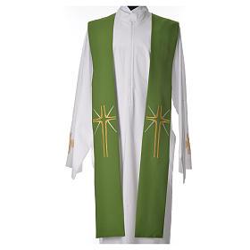 Etole liturgique 100% polyester croix et rayons s5