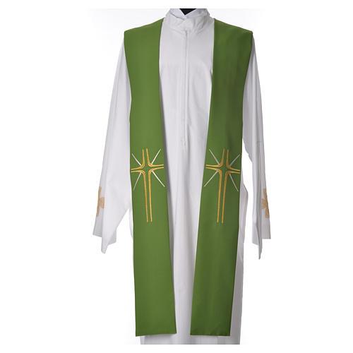 Etole liturgique 100% polyester croix et rayons 5