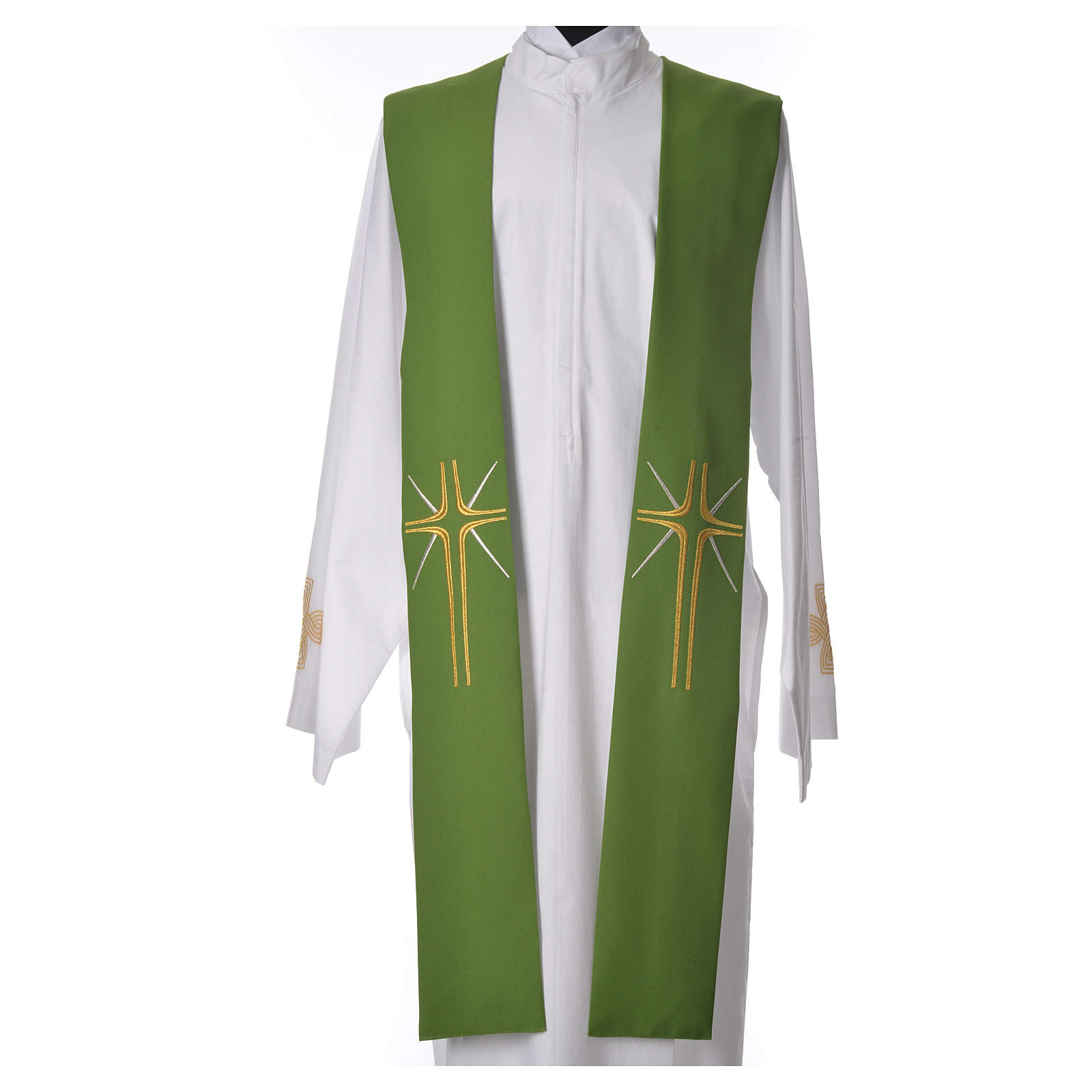 Minister Stole in 100% polyester with cross and rays 4