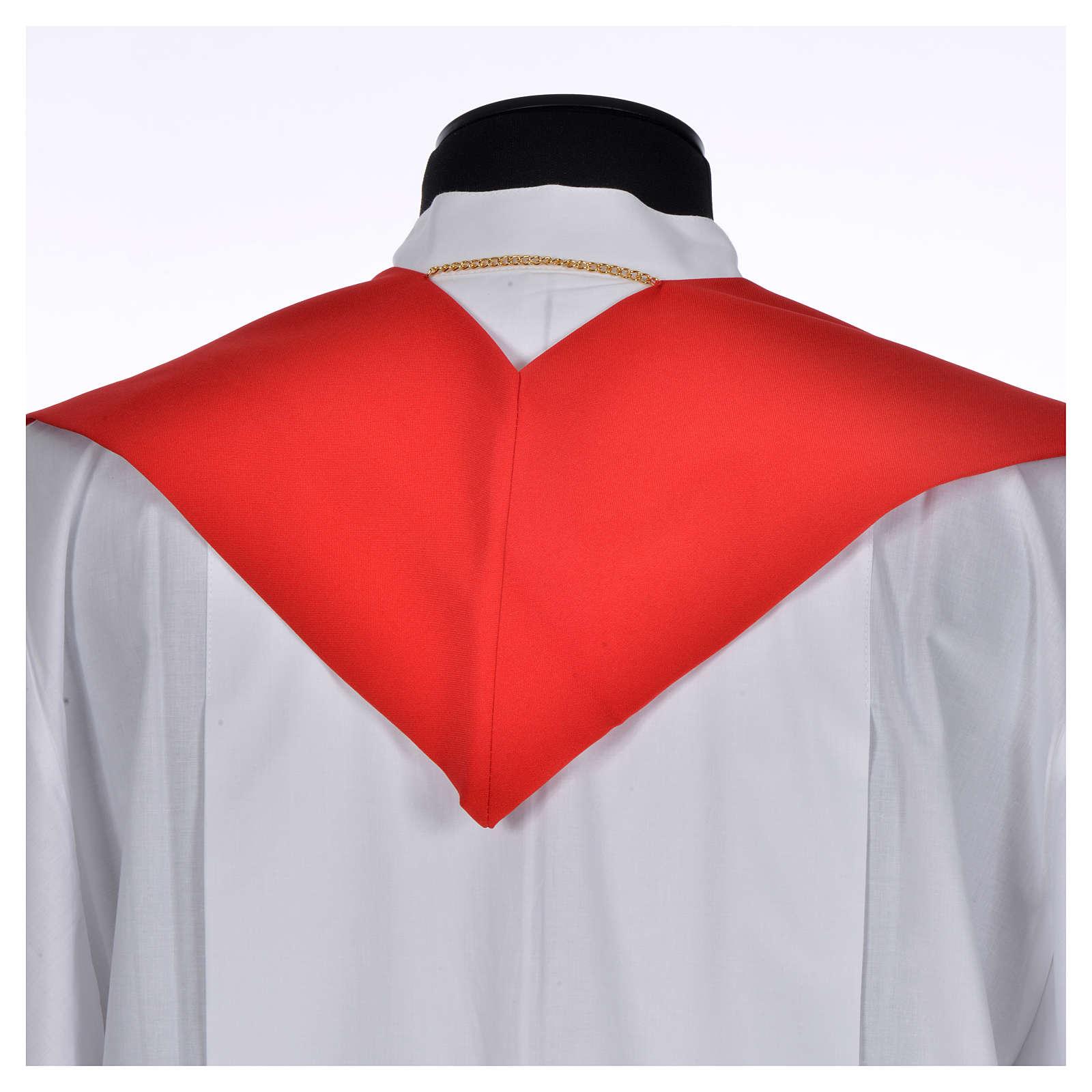 Etole liturgique 100% polyester symbole Chi-Rho stylisé 4