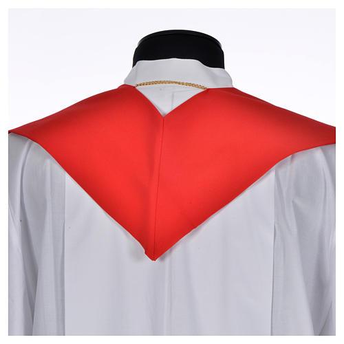 Etole liturgique 100% polyester symbole Chi-Rho stylisé 3