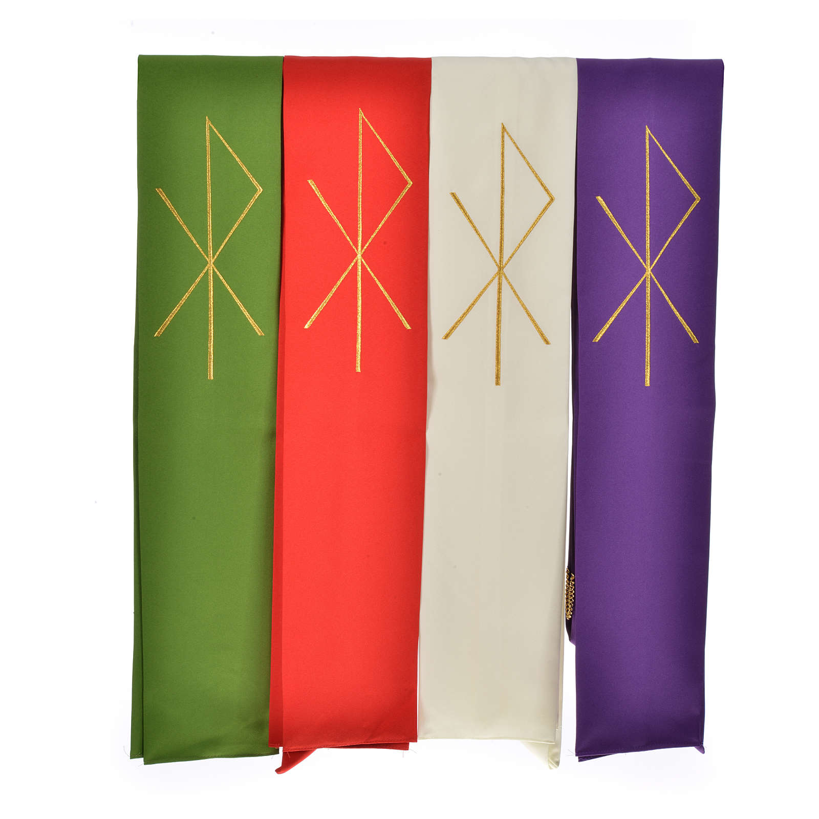 Priest Stole in 100% polyester with stylised Chi-rho 4