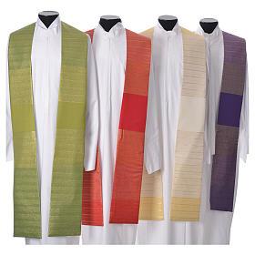 Étoles liturgiques: Étole 100% laine brossée Tasmania double retors à rayures