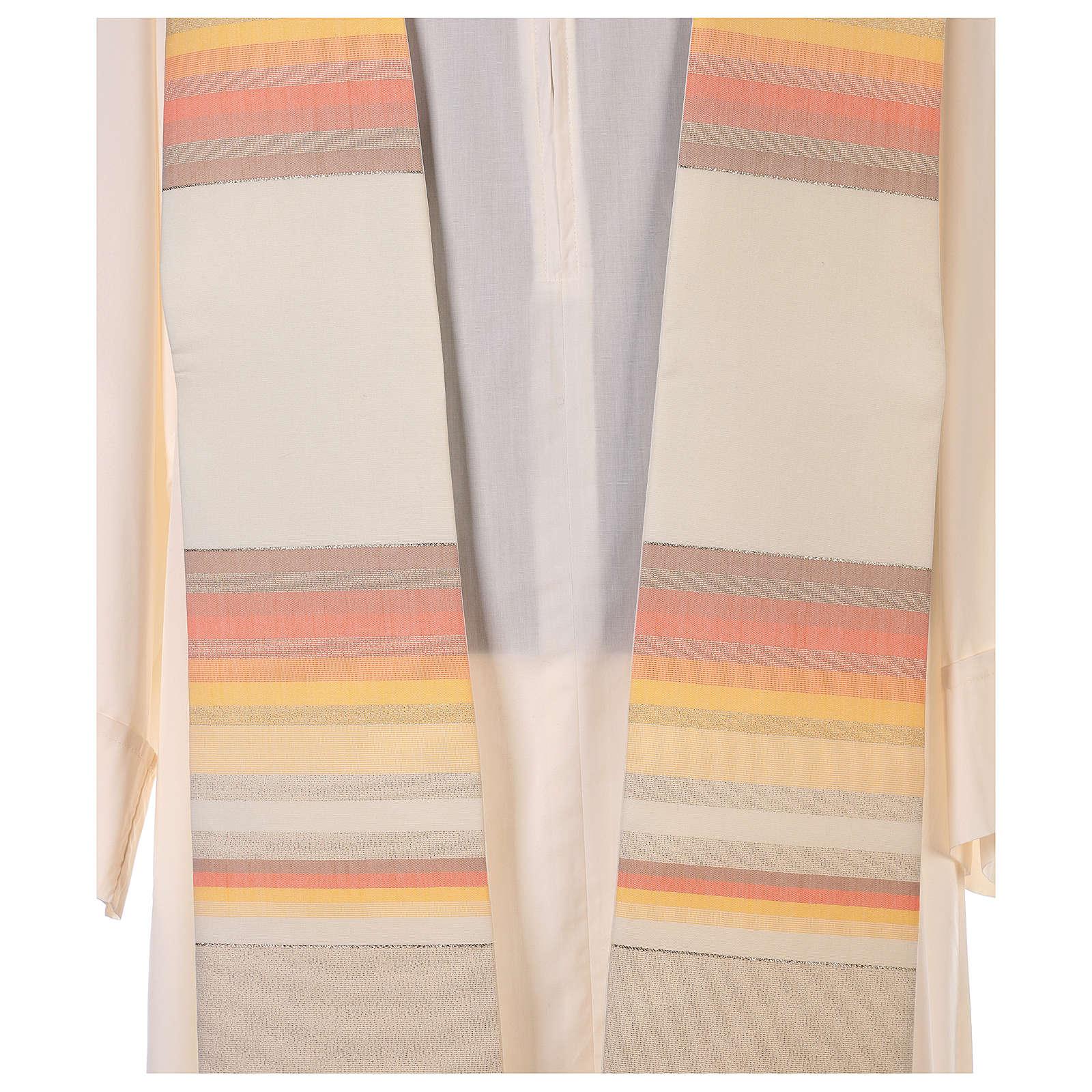 Etole 100% laine brossée double retors à rayures 4