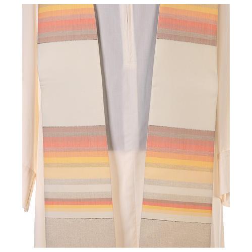 Etole 100% laine brossée double retors à rayures 2