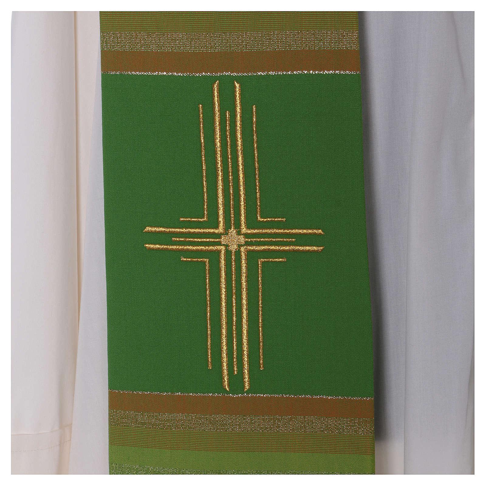 Estola 100% pura lana virgen doble hilo rayas cura estilizada 4