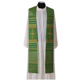 Estola 100% pura lana virgen doble hilo rayas cura estilizada s1