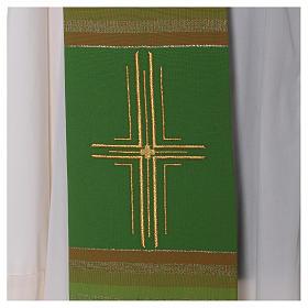 Estola 100% pura lana virgen doble hilo rayas cura estilizada s2