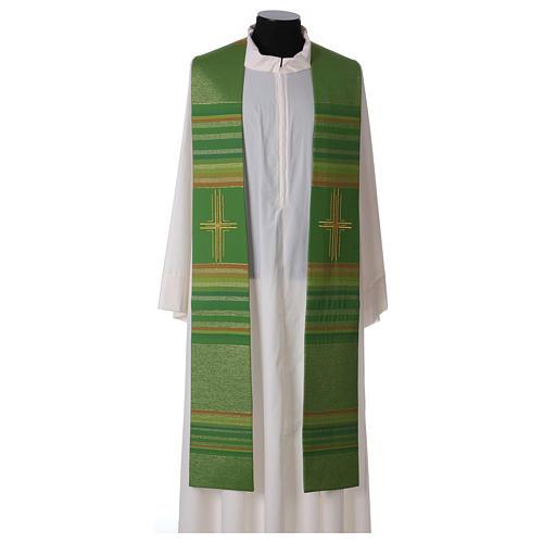 Estola 100% pura lana virgen doble hilo rayas cura estilizada 1