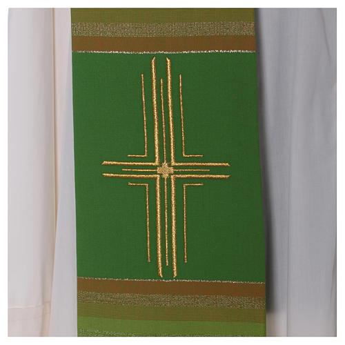 Estola 100% pura lana virgen doble hilo rayas cura estilizada 2