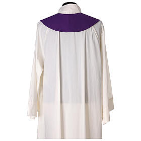 Stole in 100% polyester with ear of wheat embroidery s4