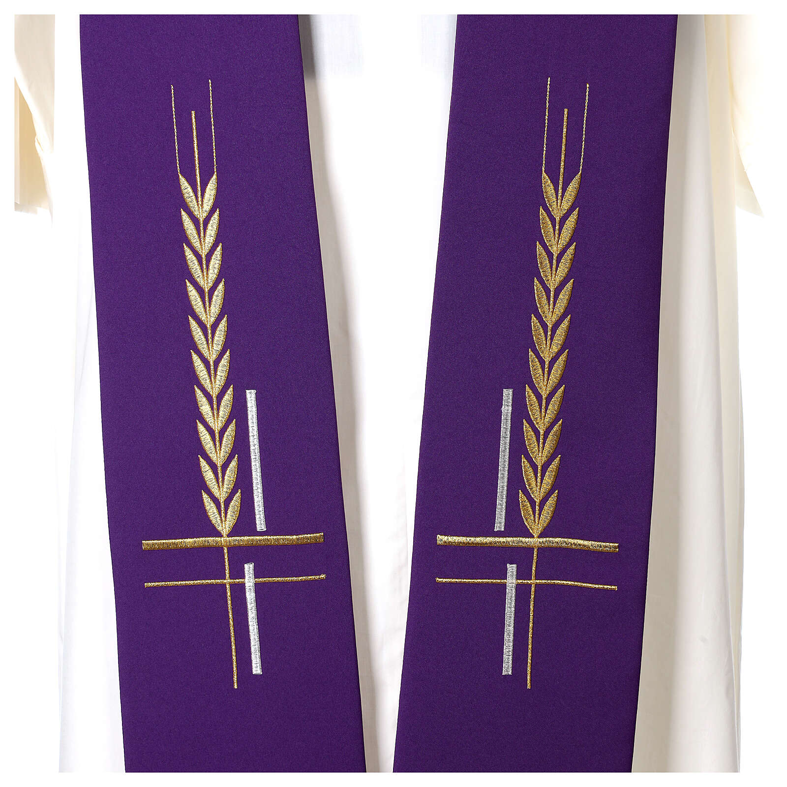 Etole motif brodé croix épi 100% polyester 4