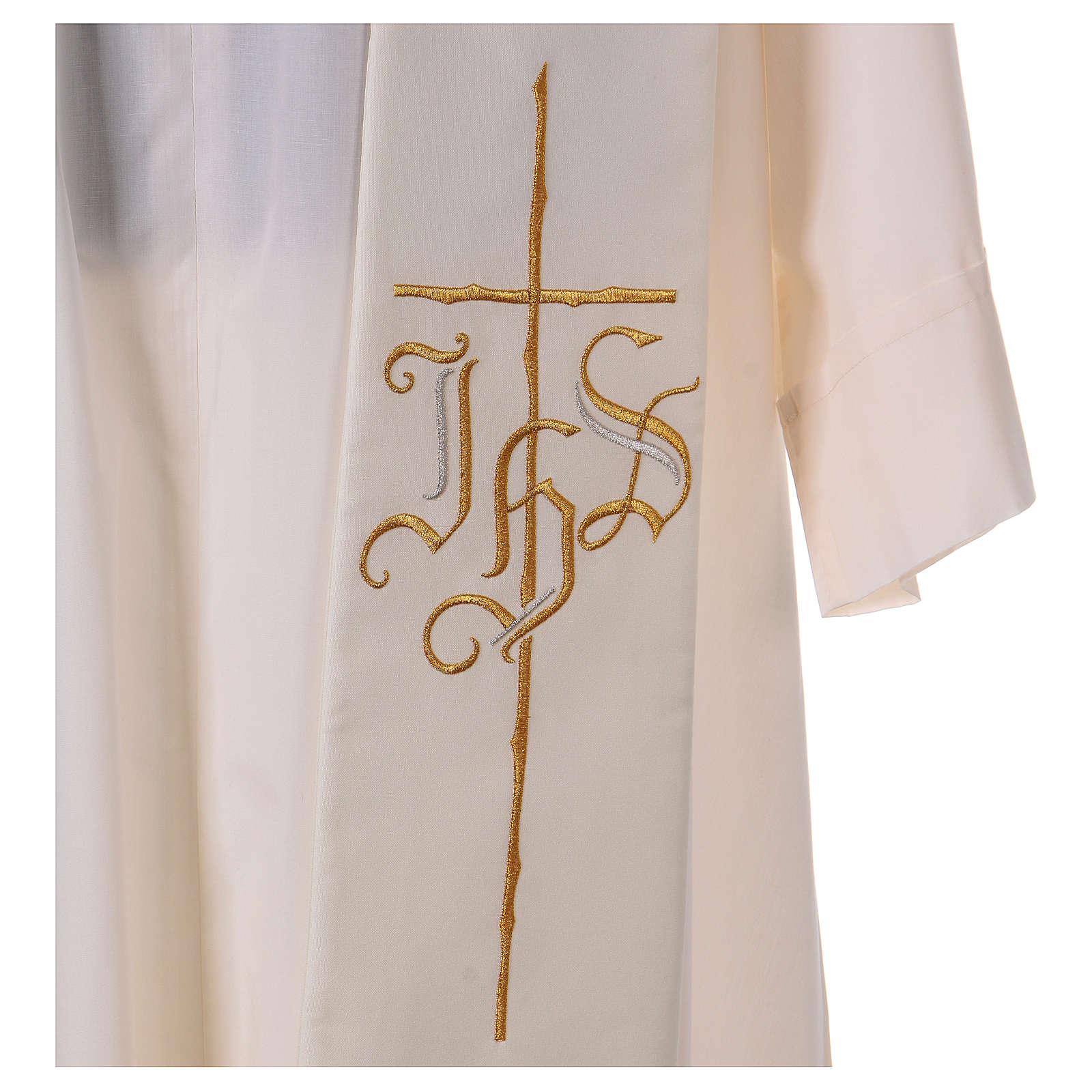 Estola 100% poliéster IHS cruz estilizadas 4