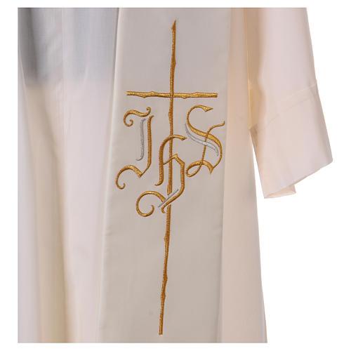 Estola 100% poliéster IHS cruz estilizadas 2