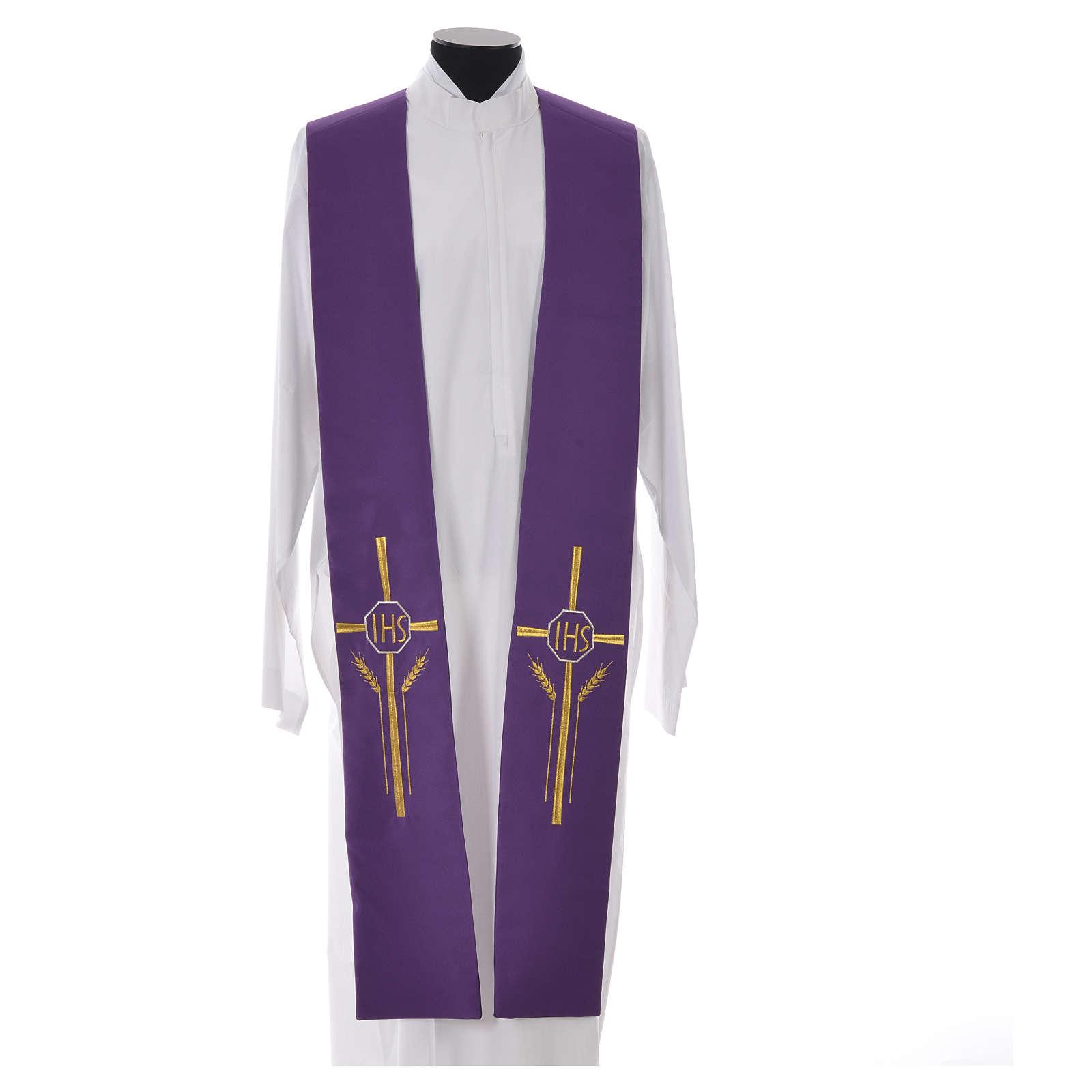 Etole IHS croix épis 100% polyester 4