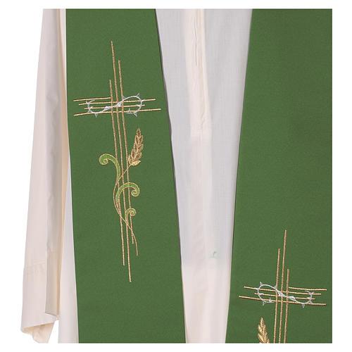 Etole liturgique croix épi 100% polyester 2