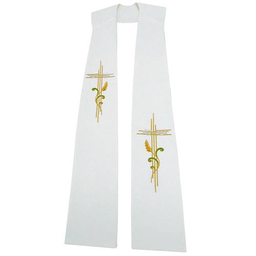 Stuła szeroka krzyż i kłos 100% poliester 1
